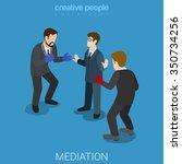 mediation flat 3d isometric... | Shutterstock .eps vector #350734256