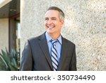 mature happy smiling business... | Shutterstock . vector #350734490