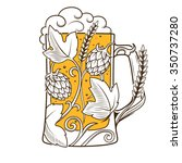 beer mug abstract ornament... | Shutterstock . vector #350737280