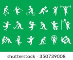 sport vector icons set | Shutterstock .eps vector #350739008