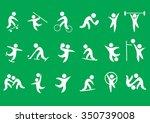 sport vector icons set | Shutterstock .eps vector #350739008