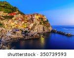 Cinque Terre, Manarola. Fishing village in Cinque Terre national park, Italy. - stock photo