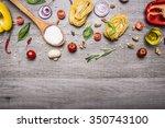 healthy foods  cooking and... | Shutterstock . vector #350743100