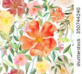 vector illustration of floral... | Shutterstock .eps vector #350744240