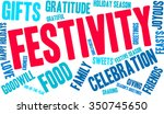 festivity word cloud on a white ... | Shutterstock .eps vector #350745650