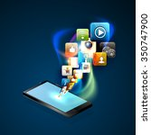 illustration social networking. | Shutterstock .eps vector #350747900