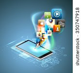 illustration social networking. | Shutterstock .eps vector #350747918