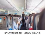 interior of commercial airplane ... | Shutterstock . vector #350748146
