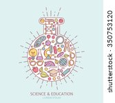 science  research and education ... | Shutterstock .eps vector #350753120