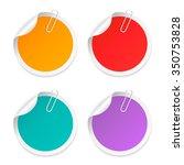stickers set vector... | Shutterstock .eps vector #350753828
