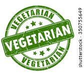 vegetarian rubber stamp | Shutterstock .eps vector #350755649