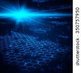 abstract background  hexagonal... | Shutterstock .eps vector #350757950