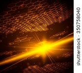 abstract background  hexagonal... | Shutterstock .eps vector #350758040