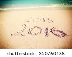 celebrating the year 2016 on a... | Shutterstock . vector #350760188
