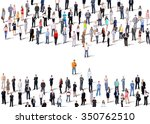 two groups of business people.... | Shutterstock . vector #350762510