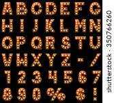 show lamps red alphabet... | Shutterstock . vector #350766260