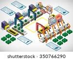 illustration of info graphic... | Shutterstock .eps vector #350766290