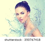 beautiful model spa woman with... | Shutterstock . vector #350767418