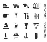 construction icons set. | Shutterstock .eps vector #350769233