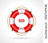 life ring icon vector... | Shutterstock .eps vector #350769938