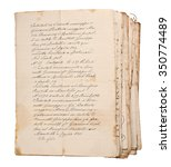 old manuscripts isolated on... | Shutterstock . vector #350774489