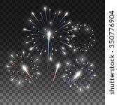 festive firework salute burst.... | Shutterstock .eps vector #350776904