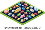 isometric 3d transport set flat ... | Shutterstock .eps vector #350782070