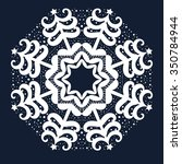 circular white ornament with... | Shutterstock .eps vector #350784944