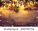 christmas fir tree with... | Shutterstock . vector #350790716