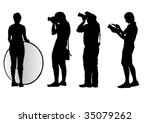 vector image of young... | Shutterstock .eps vector #35079262