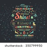 greeting card. christmas and... | Shutterstock .eps vector #350799950