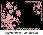 illustration with floral frame... | Shutterstock .eps vector #35080180