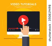 video tutorials icon concept....