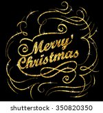 christmas gold greeting card... | Shutterstock .eps vector #350820350