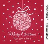 merry christmas ball on star... | Shutterstock .eps vector #350829023