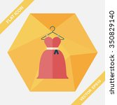 wedding dress flat icon with... | Shutterstock .eps vector #350829140