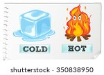 opposite adjectives with cold...
