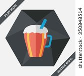 hot milk cream coffee flat icon ... | Shutterstock .eps vector #350848514