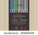 certificate design template. | Shutterstock .eps vector #350850698
