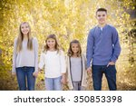 portrait photo of four cute... | Shutterstock . vector #350853398