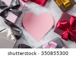 many gift boxes and mock... | Shutterstock . vector #350855300