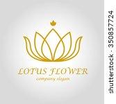 lotus flower logo | Shutterstock .eps vector #350857724
