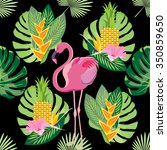 tropical exotic seamless... | Shutterstock . vector #350859650