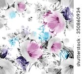 seamless pattern watercolor... | Shutterstock . vector #350860934