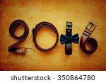 2016 shape of brown belt on... | Shutterstock . vector #350864780
