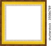 a picture gold frame on a white | Shutterstock . vector #35086789