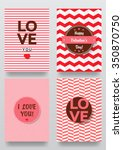 valentine s day backgrounds set.... | Shutterstock .eps vector #350870750