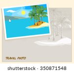 island in the sea and white... | Shutterstock .eps vector #350871548