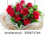 a bouquet of flowers bouquet of ... | Shutterstock . vector #350871764