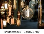 old vintage light bulb | Shutterstock . vector #350873789
